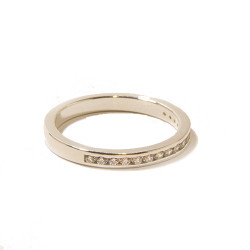 Silver Channel Set Ring