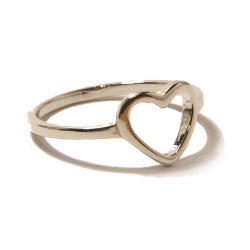 Silver Heart Ring